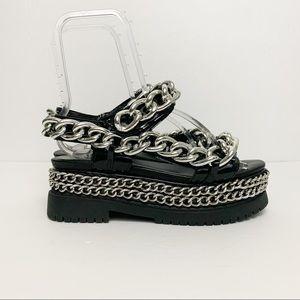 Jeffrey Campbell Mayview Chain Platform Sandals